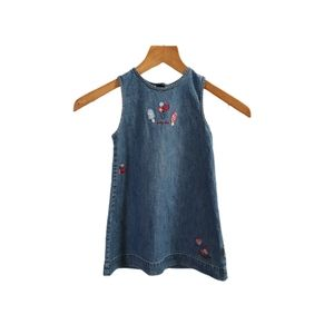 OshKosh Girls size 3 blue demin back button dress